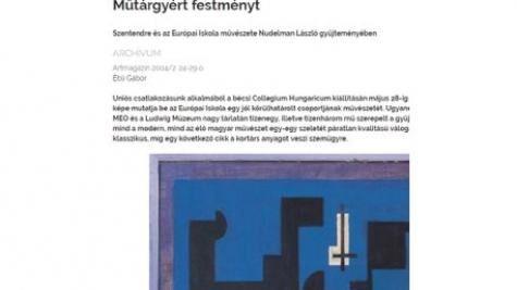 Ébli Gábor: Mûtárgyért festményt
