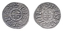 Péter (1038-1041,1044-1046) denár, centrikus elő- és hátlap, R!