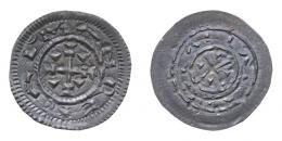 Kálmán (1095-1116) denár, Huszár: 31, Unger: 25, 18 mm, RR!