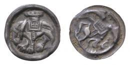 III.Béla (1172-1196) elefántos bracteata, Huszár: 203, Unger: 119, RR!