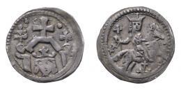 IV. Béla (1235-1270) denár, Huszár: 327, Unger:240, R!