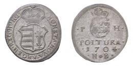 II. Rákóczi Ferenc (1703-1711) ezüst poltura 1704 NB