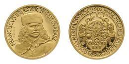 MÉE II. Rákóczi Ferenc arany érem, 6.62 g ÁP 999.9, csak 80 db készült!