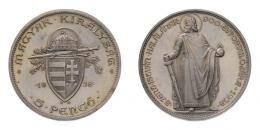 5 pengő 1938 álló Szent István, ARTEX utánveret
