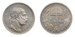 Ferenc József 1 korona 1894 K.B., rozettás ARTEX utánveret, RRR!