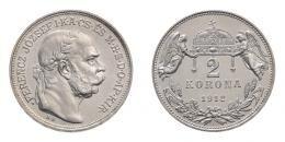 Ferenc József 2 korona 1912 K.B., rozettás ARTEX utánveret, RRR!