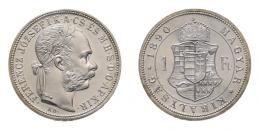 Ferenc József 1 forint 1890 KB, rozettás ARTEX utánveret, RRR!