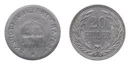 Ferenc József 20 fillér 1893 K.B. incuse hibás veret, R!