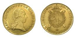 Ferenc, Sovrano 1796 B, Körmöcbánya, 11.11 g Au 919