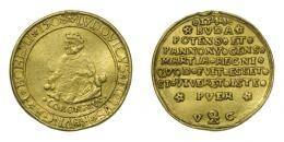 II. Lajos arany érem 1508/1544, 4 aranyforint súlyban, RR!