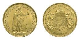 Ferenc József arany 10 korona 1913 KB, 3.38 g Au .900, R!