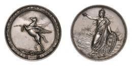A. Scharff: Kincsem versenyló, ezüst érem 1874, 45 mm
