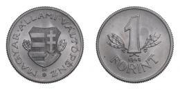 1 forint 1949 Kossuth-címer, UNC, ebben az állapotban ritka