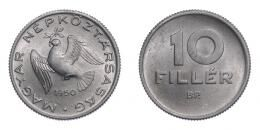 10 fillér 1950, alumínium, MNK, UNC, nagyon ritka!