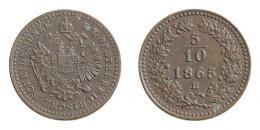 Ferenc József 5/10 krajcár 1865 B, Körmöcbánya