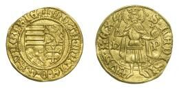 I. Mátyás (1458-1490) aranyforint, Szeben, R!