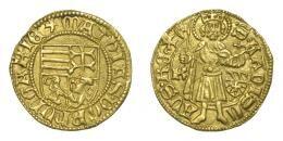 I. Mátyás (1458-1490) aranyforint, Körmöcbánya, EF!