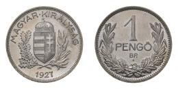 1 pengő 1927 B.P, rozettás ARTEX utánveret, RR!