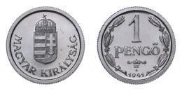 1 pengő 1941 B.P, rozettás ARTEX utánveret, RRR!