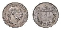 Ferenc József 5 korona 1909 K.B., U.P. jelzéssel ARTEX utánveret