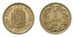 Ferenc József 1 krajcár 1885 KB, rozettás ARTEX utánveret