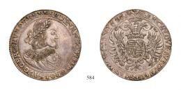 Ferdinand III. 2 Tallér /Doppeltaler/ <br>(Ag) 1655 Körmöcbánya /Kremnitz/ mint tallér<br>RR! Patina! vorzügliches Prachtexemplar!