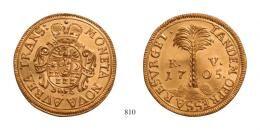 Franz II. Rakoczi Goldgulden, <br>1705 Neustadt, R! <br>stempelfrisch