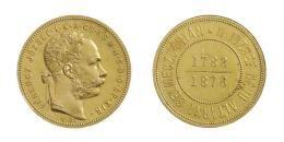 Freihetiskrieg (1848-49) Forint Goldprobe des Schemnitzer Erbstollen Guldens/ <br>(Au) 1878 Kremnitz Stempel von Franz Leisek,<br> RRR! Nur 2 oder 3 Exemplare geprägt! Das zweite bekannte Exemplar! MNM:-, Prachtexemplar!