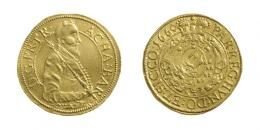 Achatius Barcsay 10 Dukát / <br>(Au) 1660 Kolozsvár /Klausenburg/, <br>300 aranykorona! /Goldkronen/ außergewöhnlich seltener Jahrgang! RRR!