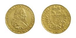 Matthias II. (1608-1619)<br>5 Dukát (Au) 1617 Kremnitz<br>vorzüglich