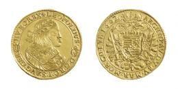 Leopold (1657-1705)<br>5 Dukát (Au) 1662 Körmöcbánya /Kremnitz/ <br>Unikum! MNM:-, WMK:-, Prachtexemplar! stempelfrisch