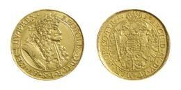 Leopopld (1657-1705)<br>5 Dukát (Au) 1690 Körmöcbánya /Kremnitz/<br>unediertes Unikum ! Prachtexemplar! stempelfrisch
