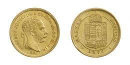 Ferenc József (1848-1916)<br>Dukát (Au) 1877 Körmöcbánya /Kremnitz/<br>RR! Erstabschlag! Prachtexemplar! stempelfrisch