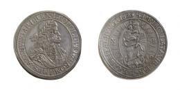 Lipót (1657-1705)<br>2 Tallér /Doppeltaler/ (Ag) 1695 /aus 1687/ Nagybánya /Neustadt/<br>Patina! Prachtexemplar! vorzüglich