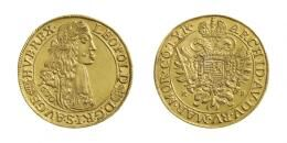Lipót (1657-1705)<br>5 Dukát (Au) 1670 Körmöcbánya /Kremnitz/<br>Sehr selten ! fast stempelfrisch