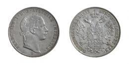 Ferenc József (1848-1916)<br>2 Taler (Ag) 1853 Körmöcbánya /Kremnitz/<br>apró peremhiba /winz. Randfehler/ RRR! Patina!