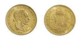 Ferenc József (1848-1916)<br>4 Forint (Au) 1892 Körmöcbánya /Kremnitz/ <br>RRR! Prachtexemplar! stempelfrisch