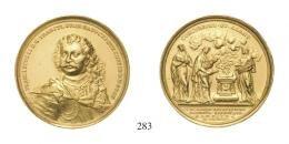 II. Rákóczi Ferenc (1703-1711)<br>Aranyérem /Goldmedaille in 25 Dukatengewicht/ (Au) 1705 a széchényi országgyûlés emlékére /auf die Erinnerung des Ständetages in Széchény/ Warou Dániel mûve Körmöcbánya /Kremnitz/ <br> RRR!