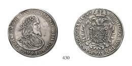 Ferdinand III.(1637-1657)<br>3 Taler (Ag) 1644, Körmöcbánya /Kremnitz/<br>gutes sehr schön- fast vorzüglich