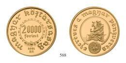 Magyar Köztársaság - Próbaveretek - Ezeréves a magyar pénzverés, sor 1000 Jahre ungarische Münzprägung, Serie, 20 000 Forint 2001 Próbaveret PP 6 db/St./pcs L-N: 303-1.a stempelfrisch