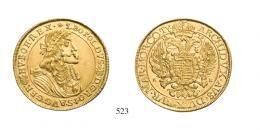 Lipót (1657-1705)<br>10 Dukát (Au) 1678 Körmöcbánya /Kremnitz/ RRR! <br>stempelfrisch