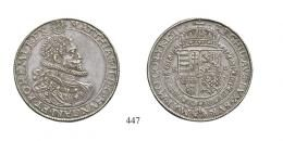 II. Mátyás (1608-1619)<br>Kettôstallér /Doppeltaler/ (Ag) 1611 Körmöcbánya /Kremnitz/ <br>RRR! Patina! Prachtexemplar! vorzüglich