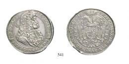 Lipót (1657-1705)<br>Kettôstallér /Doppeltaler/ (Ag) 1691 Körmöcbánya /Kremnitz/ <br>Patina! Prachtexemplar! vorzüglichh