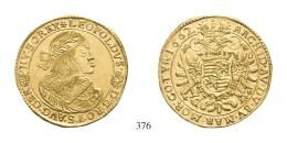Lipót (1657-1705) 5 Dukát (Au) 1662 /aus 1661/ Körmöcbánya /Kremnitz/ Prachtexemplar! stempelfrisch