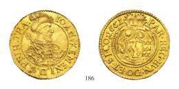 Kemény János (1661-1662) Dukát (Au) 1661 aranykorona! /Goldkronen/ RRR! fast vorzüglich
