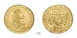Lipót (1657-1705) 10 Dukát (Au) 1668 /aus 1667/ Körmöcbánya /Kremnitz/ RR! vorzüglich-fast stempelfrisch