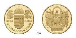 Emlékpénzek 100 000 Forint Au 2001 PP stempelfrisch