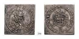 Báthori Zsigmond (1581-1602) Tallércsegely (Ag) 1597 Nagybánya /Neustadt/ wohl Unikum! gutes sehr schön