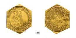 Apafi Mihály (1661-1690) 10 Aranyforint csegely /10 Goldguldenklippe/ (Au) 1689 Fogaras, 200 aranykorona! /Goldkronen/ RR! sehr schön