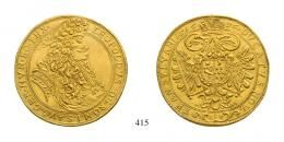 I. Lipót (1657-1705) 10 Dukát (Au) 1696 Kolozsvár /Klausenburg/, /Goldkronen/ RR! vorzüglich